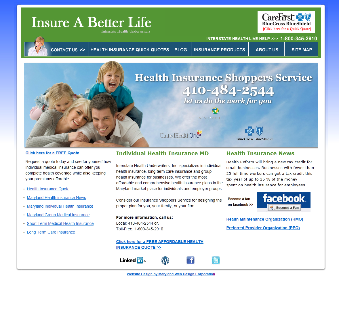 insurance-web-design-md